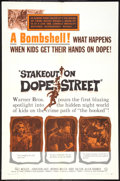 "Movie Posters:Crime, Stakeout on Dope Street (Warner Brothers, 1958). One Sheet (27"" X41""). Crime.. ..."