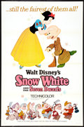 "Movie Posters:Animated, Snow White and the Seven Dwarfs (Buena Vista, R-1967). One Sheet(27"" X 41"") Style A. Animated.. ..."