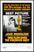 """Movie Posters:Drama, One Flew Over the Cuckoo's Nest (United Artists, 1975). One Sheet (27"""" X 41"""") Academy Award Style. Drama.. ..."""