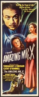 """The Spiritualist (Eagle Lion, 1948). Insert (14"""" X 36""""). Fantasy. Released in U.S. as The Amazing Mr. X"""