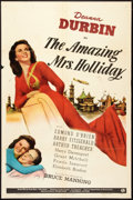 """Movie Posters:Comedy, The Amazing Mrs. Holliday (Universal, 1943). One Sheet (27"""" X 41""""). Style C. Comedy.. ..."""