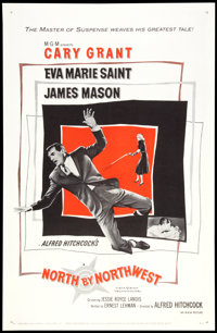 """North by Northwest (MGM, 1959). One Sheet (27"""" X 41""""). Hitchcock"""