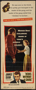 "Movie Posters:Drama, Rebel Without a Cause (Warner Brothers, 1955). Insert (14"" X 35"").Drama.. ..."