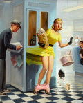 Paintings, ART FRAHM (American, 1906-1981). Number Please, 1957. Oil on canvas. 30 x 24 in.. Signed center right. ...
