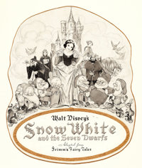 GUSTAF TENGGREN (American, 1896-1970) Snow White and the Seven Dwarfs, movie poster art, c. 1937 Ink