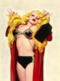 Pin-up and Glamour Art, ENOCH BOLLES (American, 1883-1976). Deco Blonde, pulp cover,c. 1930. Oil on canvas. 30 x 22 in.. Not signed. ...