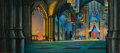Mainstream Illustration, EYVIND EARLE (American, 1916-2000). Sleeping Beauty AnimationBackground Painting with Cel Set-Up, 1959. Mixed media. 12...