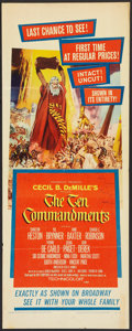 "Movie Posters:Historical Drama, The Ten Commandments (Paramount, R-1960). Insert (14"" X 36"").Historical Drama.. ..."