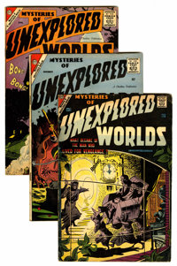 Mysteries of Unexplored Worlds Group (Charlton, 1957-59) Condition: Average GD/VG.... (Total: 9 Comic Books)