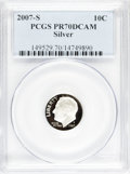 Proof Roosevelt Dimes, 2007-S 10C Silver PR70 Deep Cameo PCGS. PCGS Population (208/0).Numismedia Wsl. Price for NGC/PCGS coi...