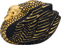 "Estate Jewelry:Purses, Austrian Crystal, Yellow Metal, ""Black Swan"" Evening Bag, JudithLeiber. ..."