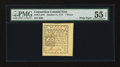 Colonial Notes:Connecticut, Connecticut October 11, 1777 7d Uncanceled Printed on White PaperPMG About Uncirculated 55 EPQ....