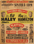 Music Memorabilia:Posters, Bill Haley and his Comets/Roy Hamilton Rock 'n Roll Show NationalGuard Armory Washington D. C. Concert Poster (1956)....