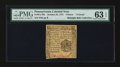 Colonial Notes:Pennsylvania, Pennsylvania October 25, 1775 4d PMG Choice Uncirculated 63 EPQ....