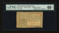 Colonial Notes:Pennsylvania, Pennsylvania April 10, 1777 1s/6d PMG Extremely Fine 40 EPQ....