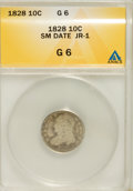 Bust Dimes, 1828 10C Small Date G6 ANACS. JR-1. NGC Census: (0/32). PCGSPopulation (0/68). Mintage: 125,000. (#4510)...