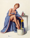Pin-up and Glamour Art, GIL ELVGREN (American, 1914-1980). It's Nothing to SneezeAt, 1947. Oil on canvas. 30 x 24 in.. Signed lower left. ...