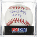 Autographs:Baseballs, Bret Saberhagen Single Signed Baseball PSA Mint 9. ...
