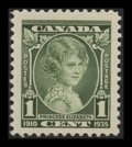 "Stamps, 1c Green, ""Weeping Princess"" Variety (Unitrade 211i / Scott211var),..."