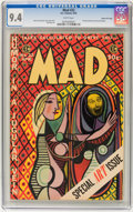 Golden Age (1938-1955):Humor, Mad #22 Gaines File pedigree 3/12 (EC, 1955) CGC NM 9.4 White pages....