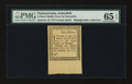 Colonial Notes:Pennsylvania, Pennsylvania January 18, 1777 9d Ogden Note. PMG Gem Uncirculated65 EPQ....