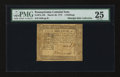 Colonial Notes:Pennsylvania, Pennsylvania March 20, 1773 4s PMG Very Fine 25....