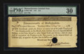 Colonial Notes:Massachusetts, Massachusetts 1781 $16 PMG Very Fine 30....