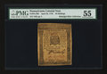 Colonial Notes:Pennsylvania, Pennsylvania April 25, 1776 10s PMG About Uncirculated 55....