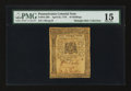Colonial Notes:Pennsylvania, Pennsylvania April 25, 1776 10s PMG Choice Fine 15....