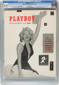 Magazines:Miscellaneous, Playboy #1 Red Star Copy (HMH Publishing, 1953) CGC VF 8.0 Whitepages....