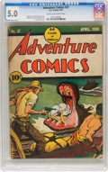 Golden Age (1938-1955):Adventure, Adventure Comics #37 (DC, 1939) CGC VG/FN 5.0 Cream to off-white pages....