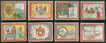 "Non-Sport Cards:Lots, 1910 T107 Helmar ""Seals of the United States and Coats of Arms...""Collection (24). ..."