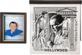 Movie/TV Memorabilia:Original Art, Frank Sinatra-Themed Artworks from Jilly Rizzo's Collection.... (Total: 2 )