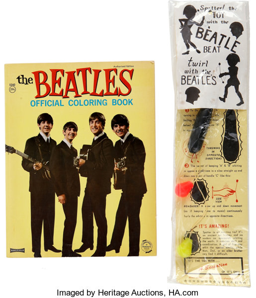 Beatles Coloring Book and Splatter Toy.... (Total: 2 Items) Music ...