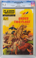 Golden Age (1938-1955):Classics Illustrated, Classics Illustrated #86 Under Two Flags - First Edition - Vancouver pedigree (Gilberton, 1951) CGC NM- 9.2 White pages....