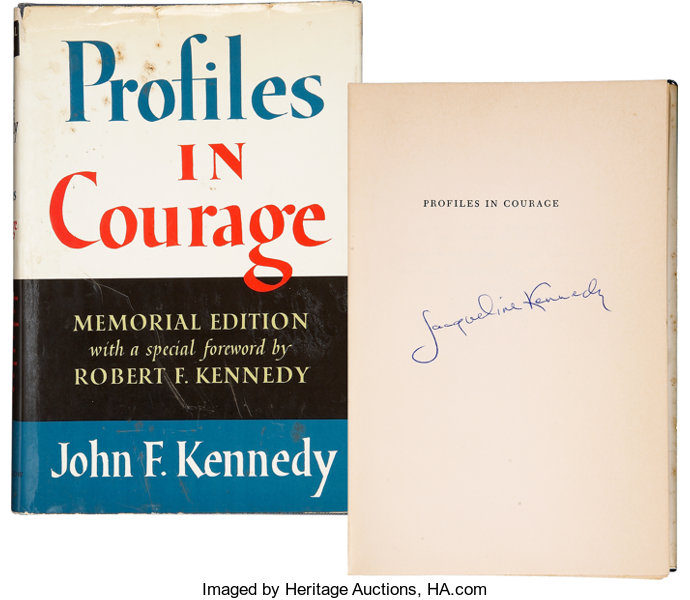 Jackie Kennedy Signed Profiles in Courage     Movie/TV Memorabilia
