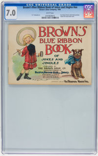 Brown's Blue Ribbon Book of Jokes and Jingles #nn (Brown's Shoe Company, 1904) CGC FN/VF 7.0 White pages