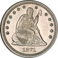 Seated Quarters, 1871 25C MS64 NGC....