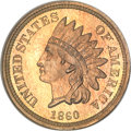 Proof Indian Cents, 1860 1C Indian Cent PR65 NGC. CAC (Gold Label)....