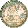 Proof Seated Quarters, 1860 25C Seated Quarter PR64 NGC. CAC (Green Label)....