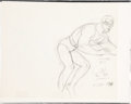animation art:Production Drawing, Plastic Man Animation Production Drawing Original Art(Hanna-Barbera, 1981)....