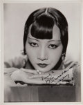 Movie/TV Memorabilia:Autographs and Signed Items, Anna May Wong Signed Photo....