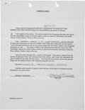 Music Memorabilia:Autographs and Signed Items, Beatles Related - George Harrison Signed Document....