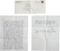 Movie/TV Memorabilia:Autographs and Signed Items, John Gotti Handwritten Letter from Prison.... (Total: 3 )