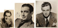 Movie/TV Memorabilia:Autographs and Signed Items, Tyrone Power, William Holden, and Robert Taylor Signed Photos....(Total: 3 )