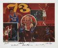 Basketball Collectibles:Others, 1973 New York Knicks Signed Lithograph. ...