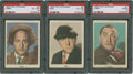 "Non-Sport Cards:Lots, 1959 Fleer ""Three Stooges"" #'s 1-2-3 PSA-Graded Trio (3)...."