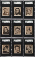Non-Sport Cards:Sets, 1948 Bowman Movie Stars SGC-Graded Complete Set (36)....