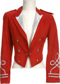 Music Memorabilia:Costumes, Michael Jackson's Red Suede Jacket....