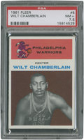 Basketball Cards:Singles (Pre-1970), 1961 Fleer Wilt Chamberlain #8 PSA NM+ 7.5....